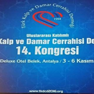 We were at 14th Turkish Cardiovascular Surgery Association Congress